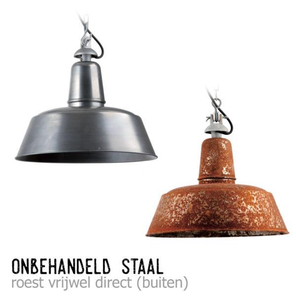 Berlin hanglamp onbehandeld staal + roest