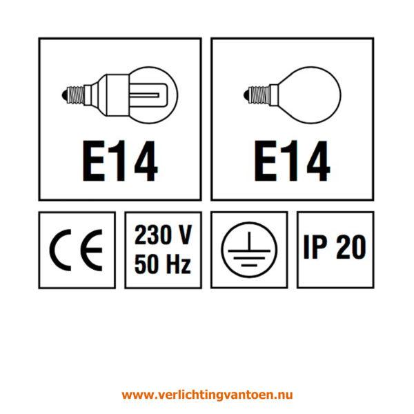 Verlichting van Toen - verlichtingsuitleg met IP 20 en E14