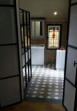 Tegelvloer - Verlichting van Toen
