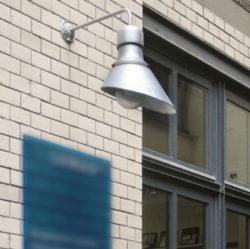 Hamburg wandlamp industrieel grijs - Verlichting van Toen