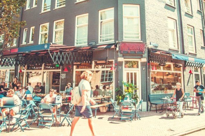 Superette cafe Amsterdam - terras - Verlichting van Toen