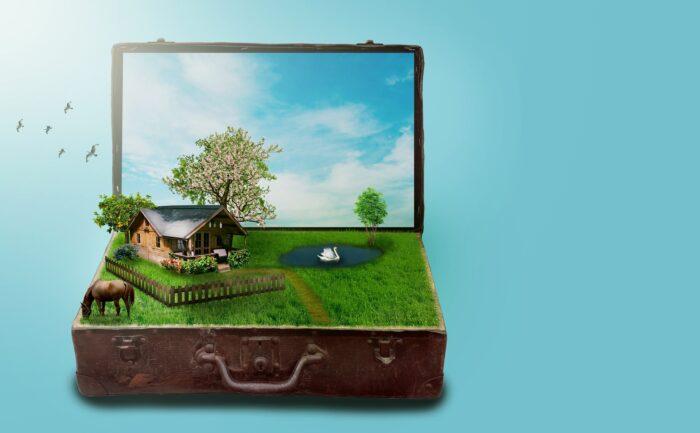 Vakantie staycation - Koffer - Verlichting van Toen